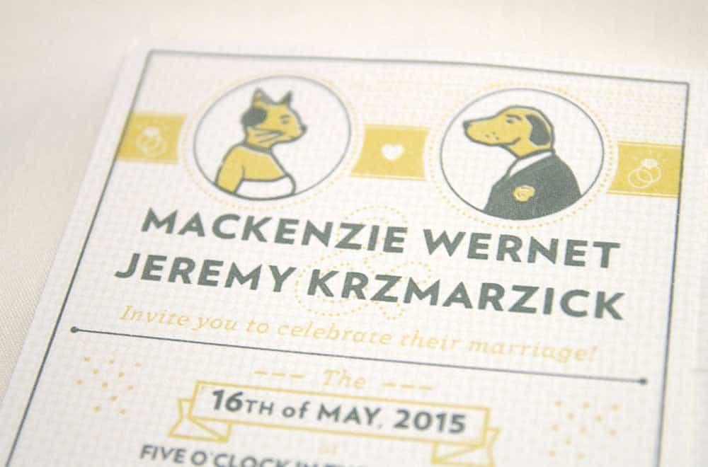 Wedding Stationary Designs Cat and Dog