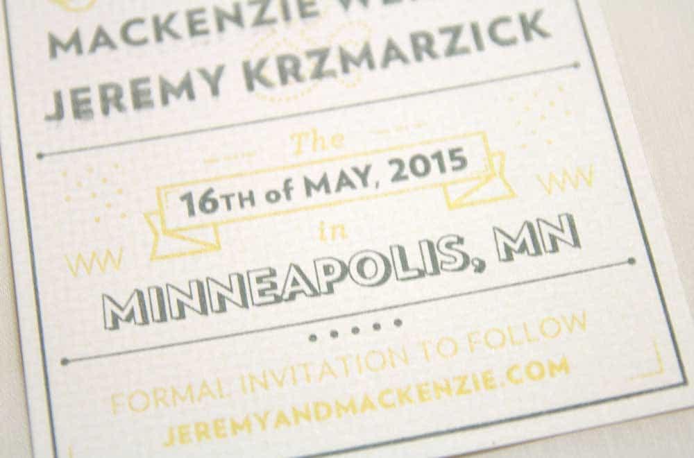 Wedding Stationary Designs Minneapolis