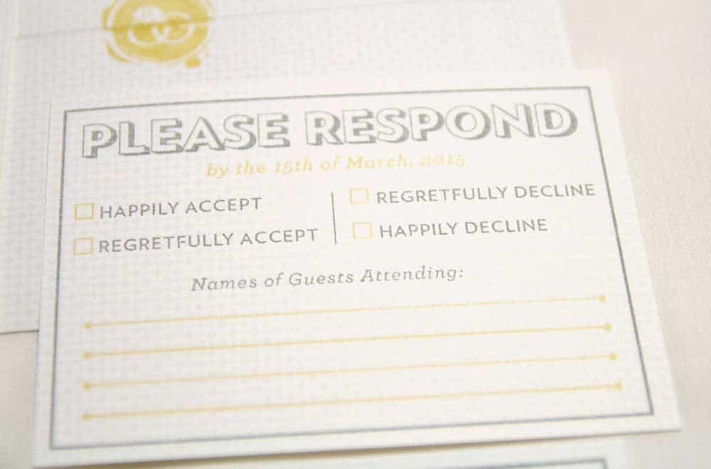 Wedding Stationary Designs Please Respond