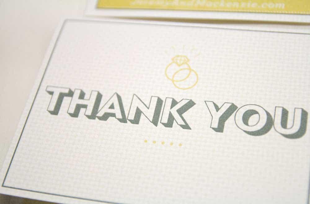 Wedding Stationary Designs Thank You Card