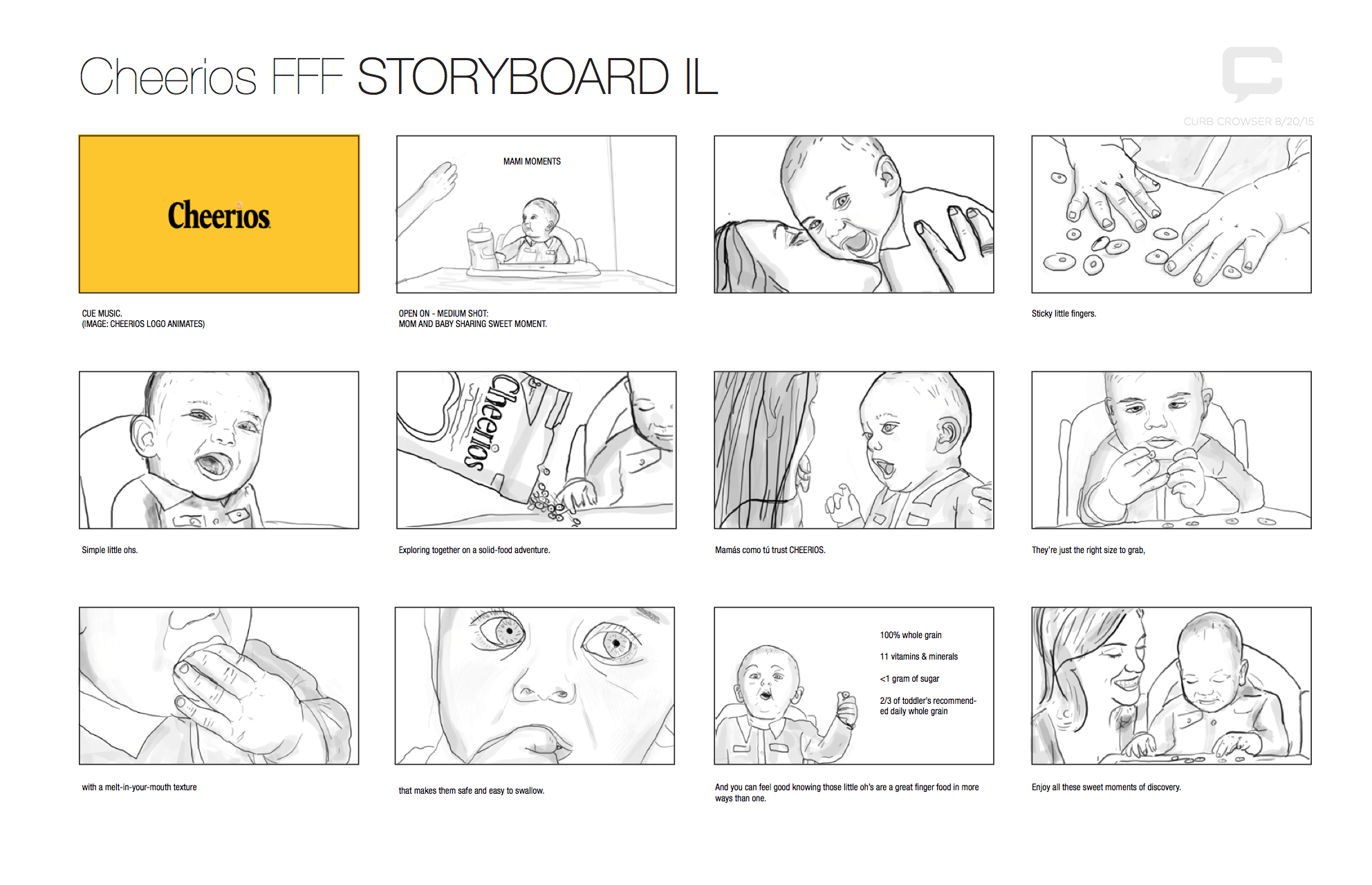 First Finger Food Storyboard Page 1