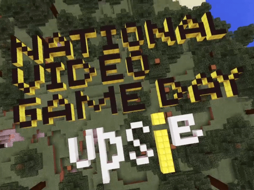 Upsie Minecraft National Video Game Day