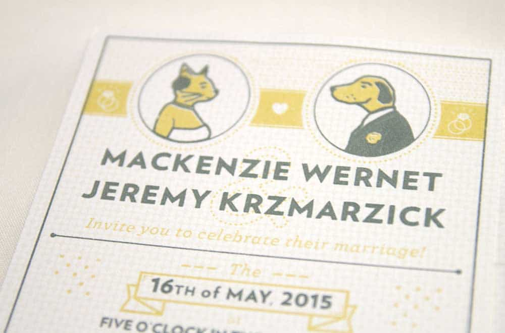 Wedding Stationary Designs Cat and Dog