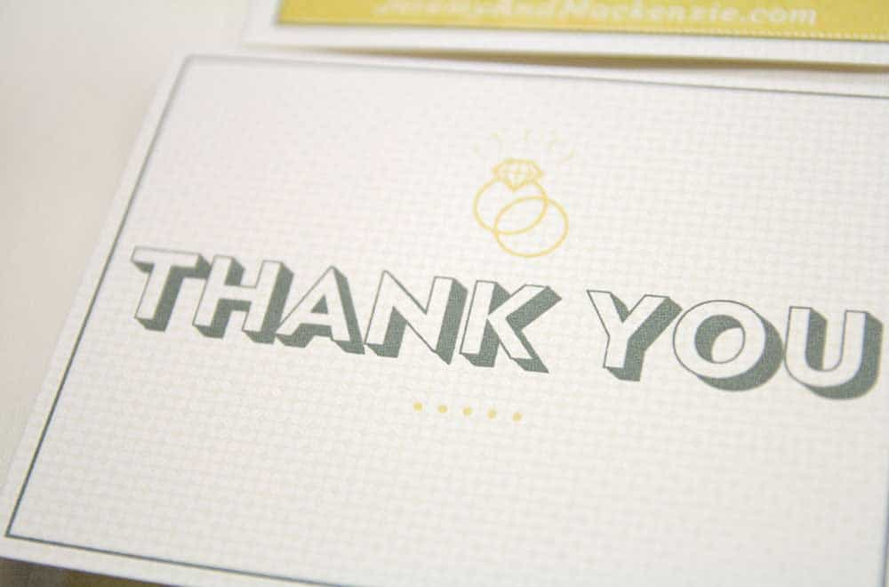 Wedding Stationary Designs Thank You Card